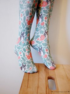 via https://www.etsy.com/listing/201400878/floral-totoro-thigh-high-stockings