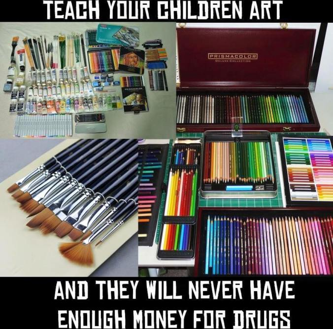 art supplies meme